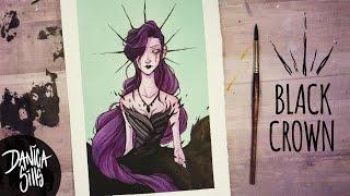 The Black Crown ♦ Watercolor Speedpaint ♦ Artwork