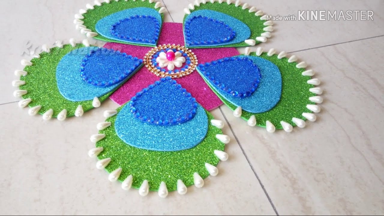 latest acrylic rangoli design using ohp sheet by kraft nation