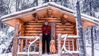 Budowanie kabiny z sauną w dziczy sam z moim psem