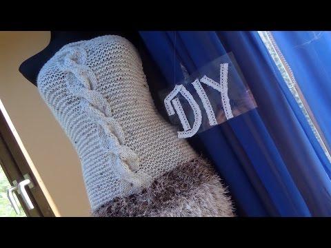 DIY: SEXY STRICK Zopfkleid , schulterfreies Kleid zum selber STRICKEN ; ANLEITUNG;Tipps + Tricks