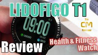 LIDOFIGO T1 Test: Smartwatch IP67 Fitnessuhr Hands-on (Deutsch, engl. hints)