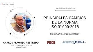 Principales cambios de la norma ISO31000:2018