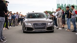 533HP Supercharged Audi A7 w/ Custom Exhaust - LOUD Revs, Accelerations & Crackles !