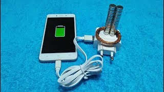 Mobile Charging Free Energy Copper Wire With Magnet And Mobile Charger Awesome Idea 2018