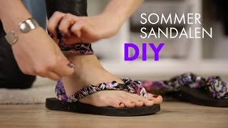 DIY Sommersandalen Aus Flip Flops » Upcyling Tutorial | How To Wear STYLIGHT