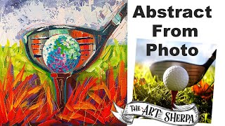 EASY Golf Ball Abstract painting tutorial from Photo LIVE STREAM