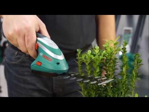 Tutorial: Gras- und Strauchschere ISIO von Bosch