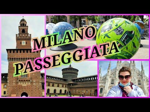 132) Piazza Duomo di Milano, Castello Sforzesco, passeggiata 🟣 Площадь Дуомо, Замок Сфорца, прогулка