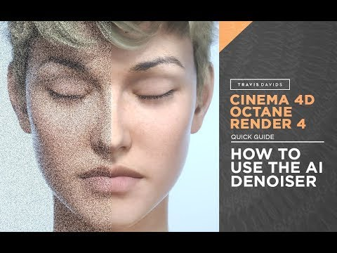 Cinema 4D and Octane Render 4 - How To Use The AI Denoiser
