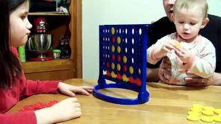 2 Year Old Wins Connect 4!