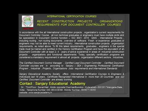 document controller course - YouTube