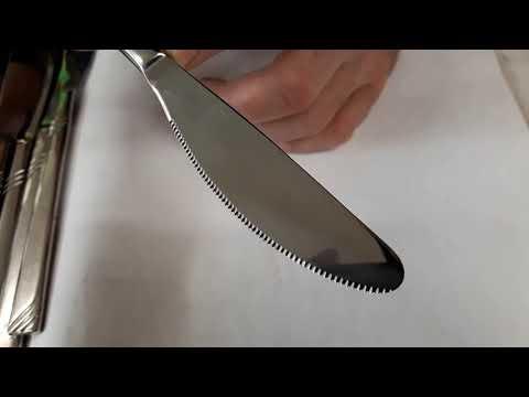Affilatura di un coltello da tavola