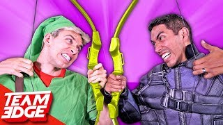 Real Life Bow And Arrow Battle!!