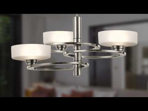 Video for Aleeka Classic Pewter Five Light Multi Tier Chandelier