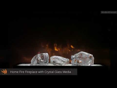 CBI Series Fireplace with Crystal Glass Media