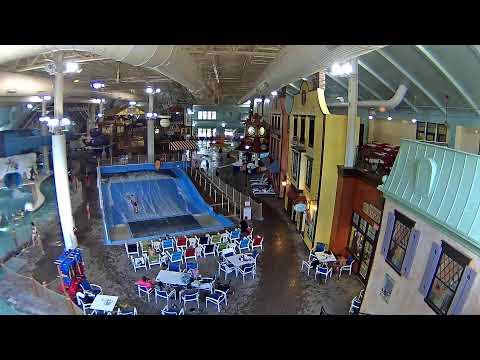 waterpark, park, indoor, slide, people, pool