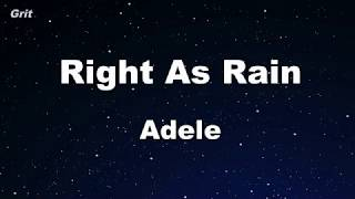 Right As Rain - Adele Karaoke 【No Guide Melody】 Instrumental