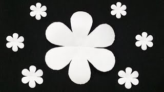 How To Cut A Perfect 6 Petal Paper Flower | Easy Paper Flower | DIY Flower Making