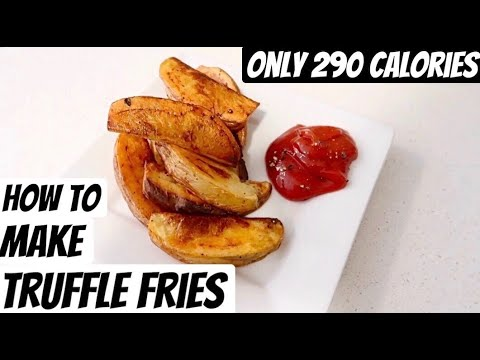 , title : 'HOW TO MAKE TRUFFLE FRIES! ONLY 290 CALORIES! (low calorie + vegan recipes + soothing voice)