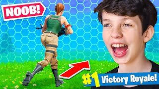 Reacting to our FIRST Win with My Little Brother! - Fortnite