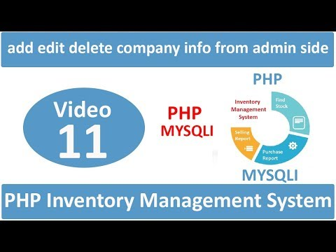 how to add edit delete company info from admin side in php ims