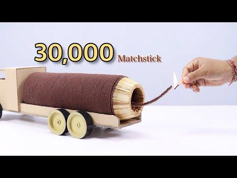 Amazing Art 30000 Matches Powered Jet Truck
