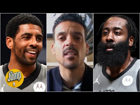 Reacting to Kyrie Irving telling James Harden he's the Nets' point guard | The Jump