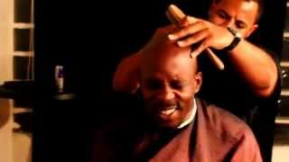 "DMX Singing ""I Want To Thank You"" In Barber's Chair"
