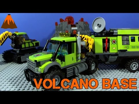 Vidéo LEGO City 60124 : La base d'exploration du volcan