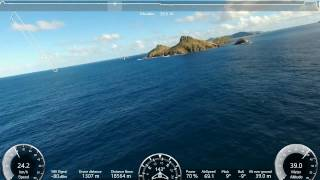 PARROT DISCO: Return flight of 57km from Saint Martin to Saint Barthélémy