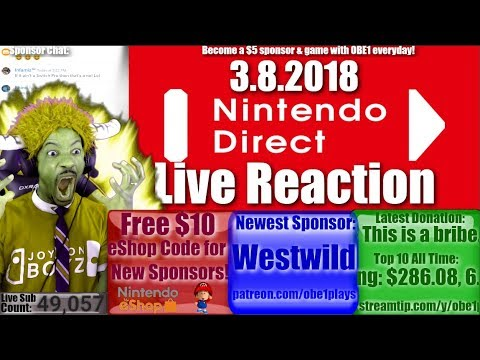 Nintendo Direct Live Reaction! March 8th 2018