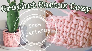 How To Crochet A Planter Cover - The Cactus Cozy, Free Pattern