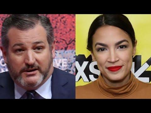 "Alexandria Ocasio-Cortez DEMOLISHES Ted Cruz's Sad Attempt At Saying Joe Biden Is A ""Socialist"""