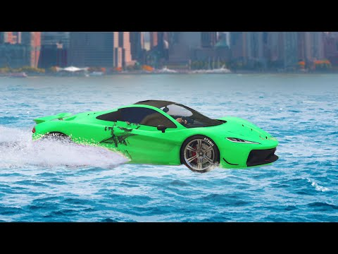 CARS ON WATER RACE! (GTA 5 Funny Moments)