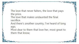 Charlotte Church - I Vow to Thee My Country Lyrics