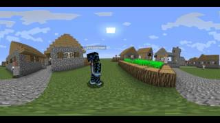(тест) minecraft - 360 градусов.