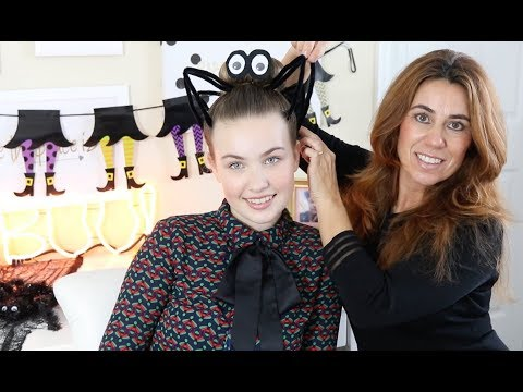 HALLOWEEN SPIDER LOOK - Haar Tutorial
