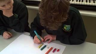 Year 2 and 3 children working with fractions