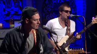"""Houndmouth performs """"Sedona"""" on the News With a Twist Stage"""