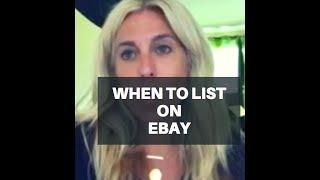 eBay Tip: Best Time to List on eBay