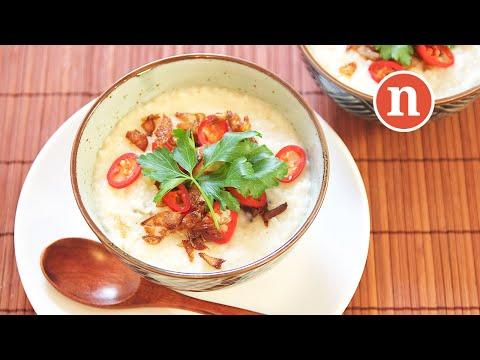 Chicken Porridge with Spices and Coconut Milk   Bubur Lambuk Ayam [Nyonya Cooking]