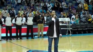 Kevon Edmonds - National Anthem - Lakers vs Hornets - 03/29/10