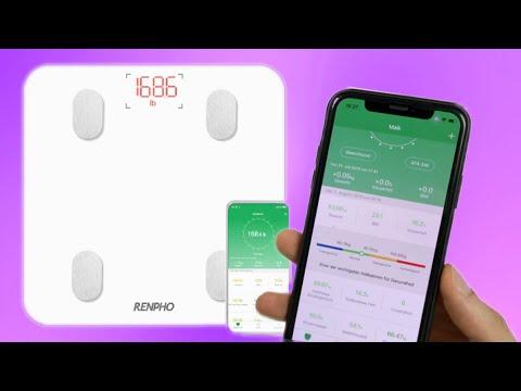 Die Renpho Körperfettwaage analysiert 13 Körpermesswerte inkl. App & tollem Design im Test REVIEW