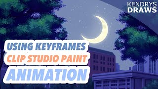 How to use keyframes-Clip studio Paint animation