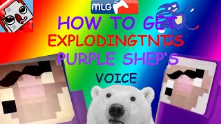 How To Get ExplodingTnT's Purple Shep Voice (NO VIRUS,100% WORKING)