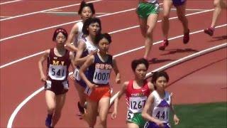 群馬県高校総体陸上2017女子1500m決勝