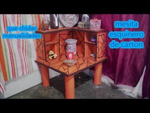 mesa esquinero de cartón -    Cardboard corner table -