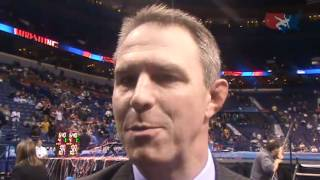 Cornell head coach Rob Koll after the NCAA Championships