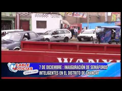 7 DE DICIEMBRE  INAUGURACIÓN DE SEMÁFOROS INTELIGENTES EN EL DISTRITO DE CHANCAY