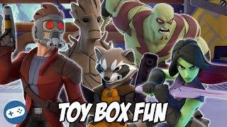 Guardians Of The Galaxy Disney Infinity 3.0 Toy Box Fun Gameplay